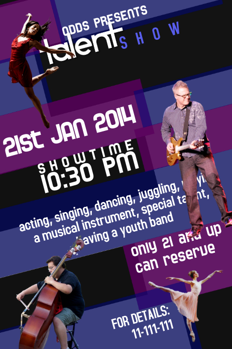 Talent Show Flyer Template Poster