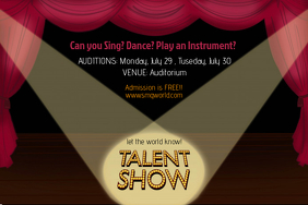 free talent show flyer templates