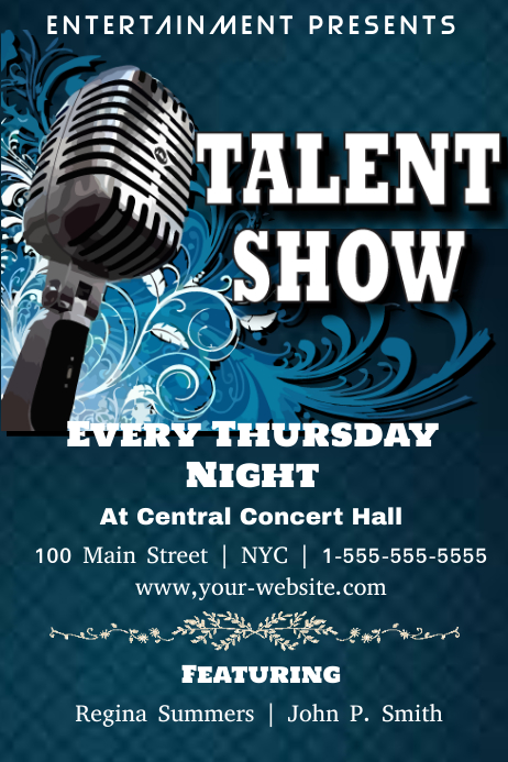talent show posters background clip art vector images illustrations