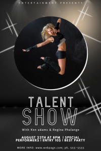 Talent Show Flyer Template with photo image