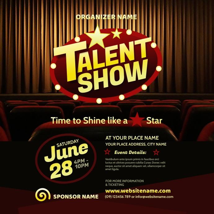 Talent Show Instagram Post template