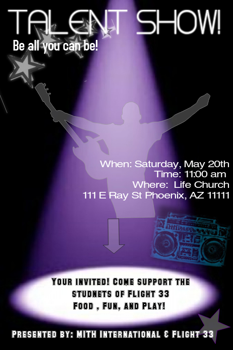 talent show flyer templates free talent show poster template postermywall