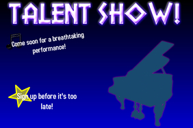 talent show poster background