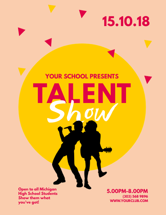 copy of talent show flyer template