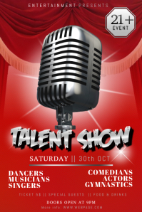 talent show flyer template free