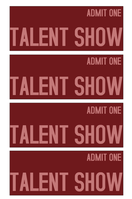 Talent Show Ticket Template  Postermywall