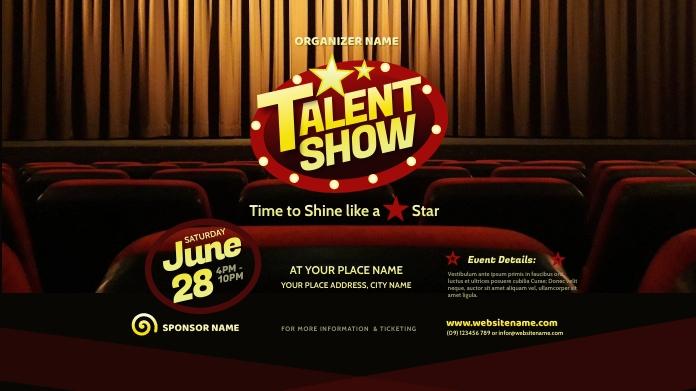 Talent Show Twitter Post template
