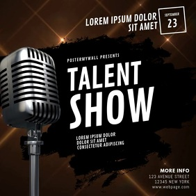 Talent Show Video Ad Design Template Publicação no Instagram