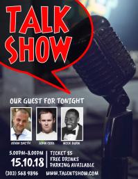 Talk Show Flyer Template