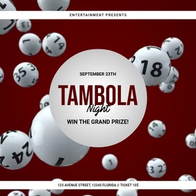 Tambola Bingo Event Video Ad Template Instagram Post