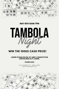 Tambola event Flyer Template Poster