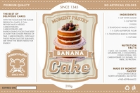 Tan Bakery Cupcake Mix Packing Label Template Etiqueta