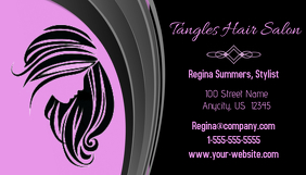 Tangles Hair Salon Business Card