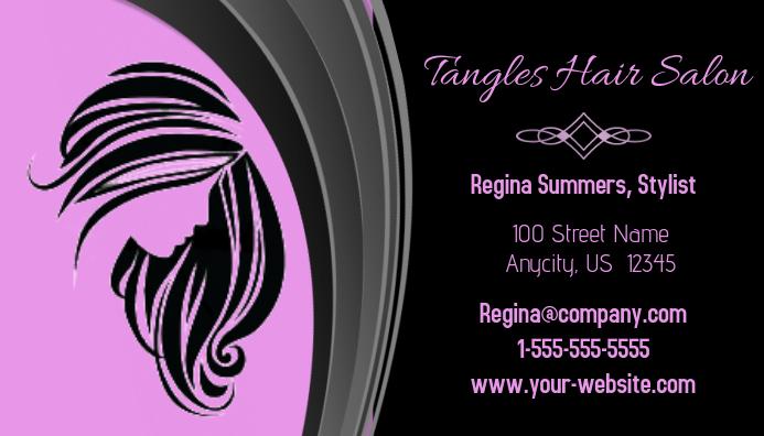 Tangles Hair Salon Business Card