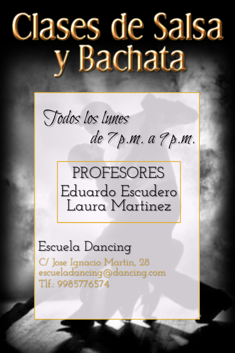 Tango and Salsa dance lessons