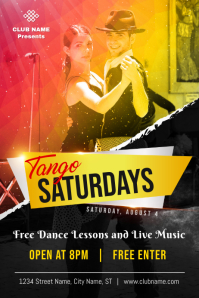 Tango Dance Lessons Poster Template