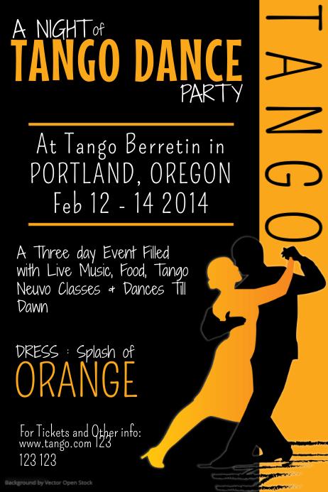 Tango Dance Poster Template