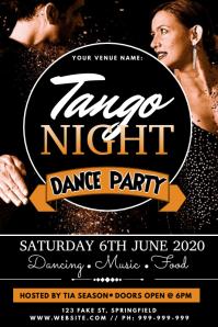 Tango Night Poster template