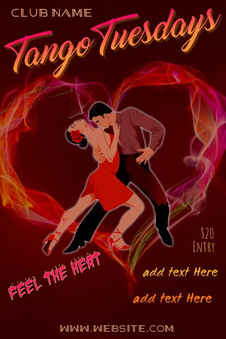 Tango Tuesdays Poster Póster template