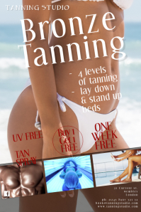 Tanning Salon Poster Template