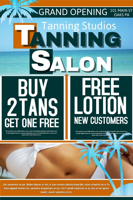 tanning salon template
