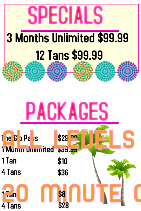 Tanning Salon Prices