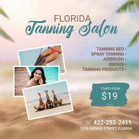 Tanning Salon Video Promote Ad Template Persegi (1:1)