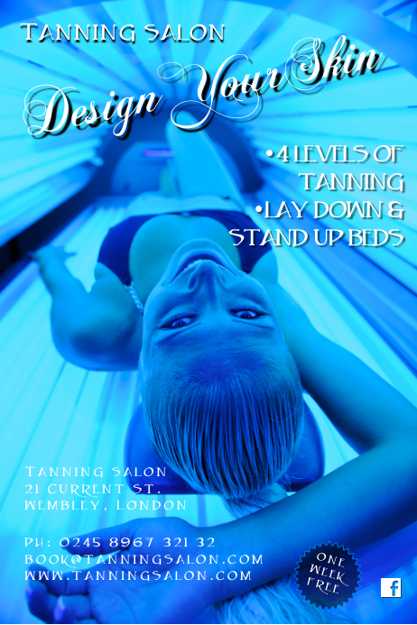Tanning saloon poster