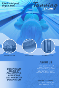 Tanning solarium spa salon flyer template