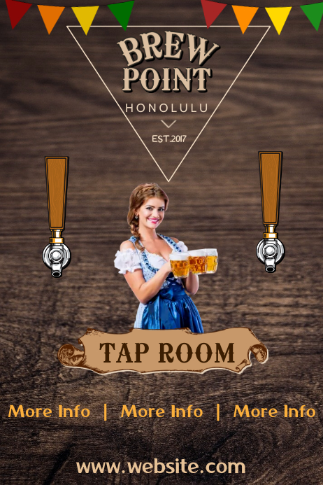 Room Design Layout Templates: Tap Room Poster Template