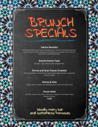 Tapas Menu or Brunch Specials Menu Flyer