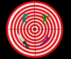 target for throw or shooting template Large Rectangle