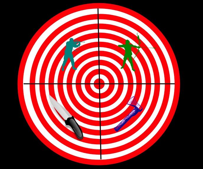 target for throw or shooting template
