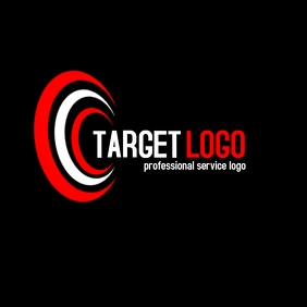 Target red and white logo template