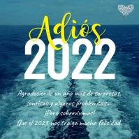 Tarjeta Adiós 2019 Bienvenido 2020
