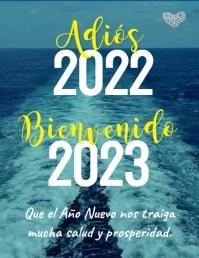 Tarjeta Adiós 2020 Bienvenido 2021 Folheto (US Letter) template