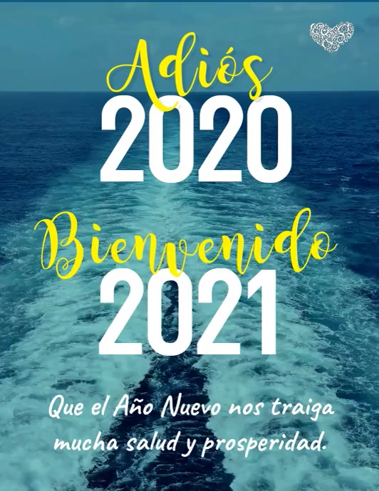 Tarjeta Adiós 2020 Bienvenido 2021 Flyer (US-Letter) template