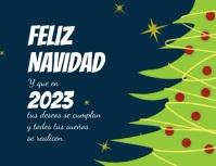 Tarjeta animada para navidad y año nuevo Flyer (US Letter) template
