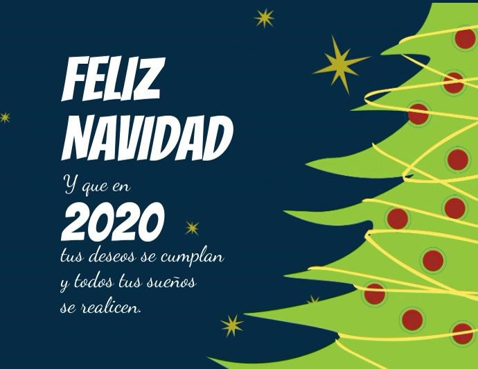 Tarjeta animada para navidad y año nuevo Flyer (US-Letter) template