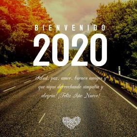 Tarjeta Bienvenido Año Nuevo 2020