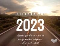 Tarjeta Bienvenido Año Nuevo 2021 Volante (Carta US) template