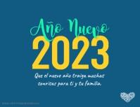 Tarjeta de Feliz Año Nuevo 2020