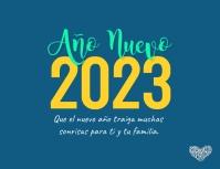 Tarjeta de Feliz Año Nuevo 2021 Pamflet (Letter AS) template