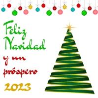 Tarjeta de Feliz Navidad y próspero 2021 template