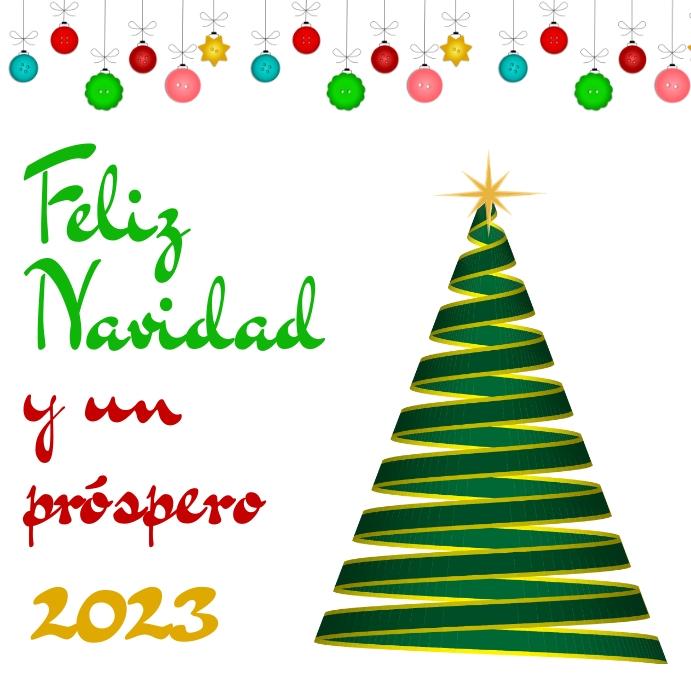 Plantilla de Tarjeta de Feliz Navidad y próspero 2021 | PosterMyWall