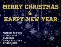 tarjeta de navidad y año nuevo con video ใบปลิว (US Letter) template