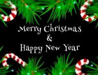 tarjeta de navidad y año nuevo con video Flyer (US Letter) template