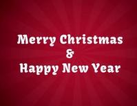 tarjeta de navidad y año nuevo con video Pamflet (Letter AS) template