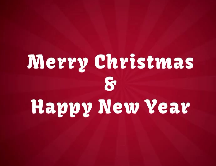 tarjeta de navidad y año nuevo con video Flyer (US-Letter) template