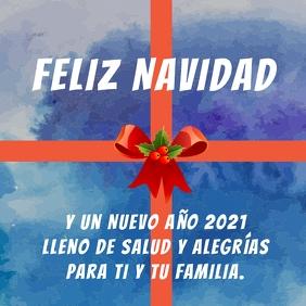 tarjeta Feliz Navidad y Año Nuevo 2021 Message Instagram template